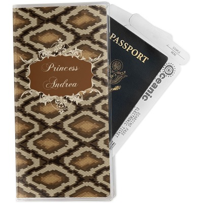 Snake Skin Travel Document Holder