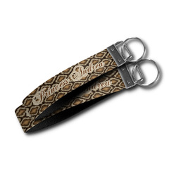 Snake Skin Wristlet Webbing Keychain Fob (Personalized)