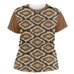 Snake Skin Women's Crew T-Shirt (Personalized)