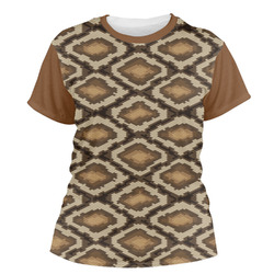 Snake Skin Women's Crew T-Shirt (Personalized)