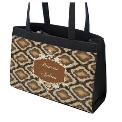 Snake Skin Zippered Everyday Tote (Personalized)