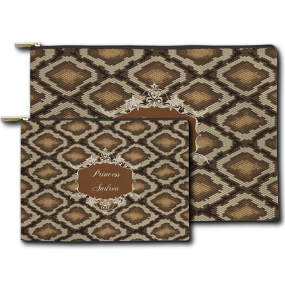 Snake Skin Zipper Pouch (Personalized)