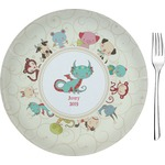 "Chinese Zodiac Glass Appetizer / Dessert Plates 8"" - Single or Set (Personalized)"