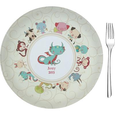 "Chinese Zodiac Glass Appetizer / Dessert Plate 8"" (Personalized)"