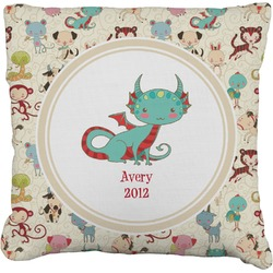 """Chinese Zodiac Faux-Linen Throw Pillow 16"""" (Personalized)"""