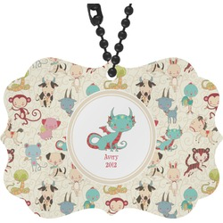 Chinese Zodiac Rear View Mirror Charm (Personalized)