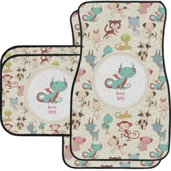 Chinese Zodiac Car Floor Mats Set - 2 Front & 2 Back (Personalized)