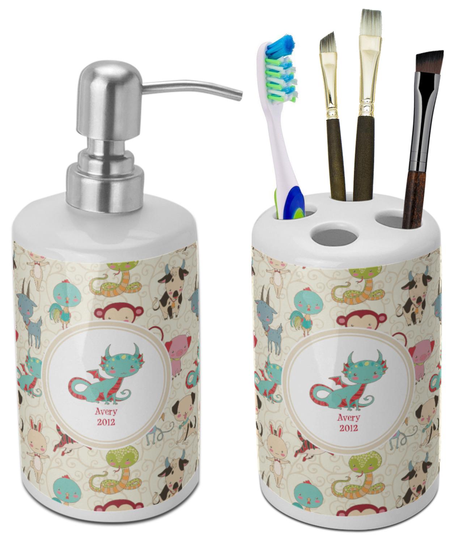 Chinese Zodiac Bathroom Accessories Set (Ceramic) (Personalized ...