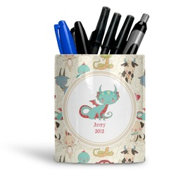 Chinese Zodiac Ceramic Pen Holder