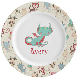 Chinese Zodiac Ceramic Dinner Plates (Set of 4) (Personalized)