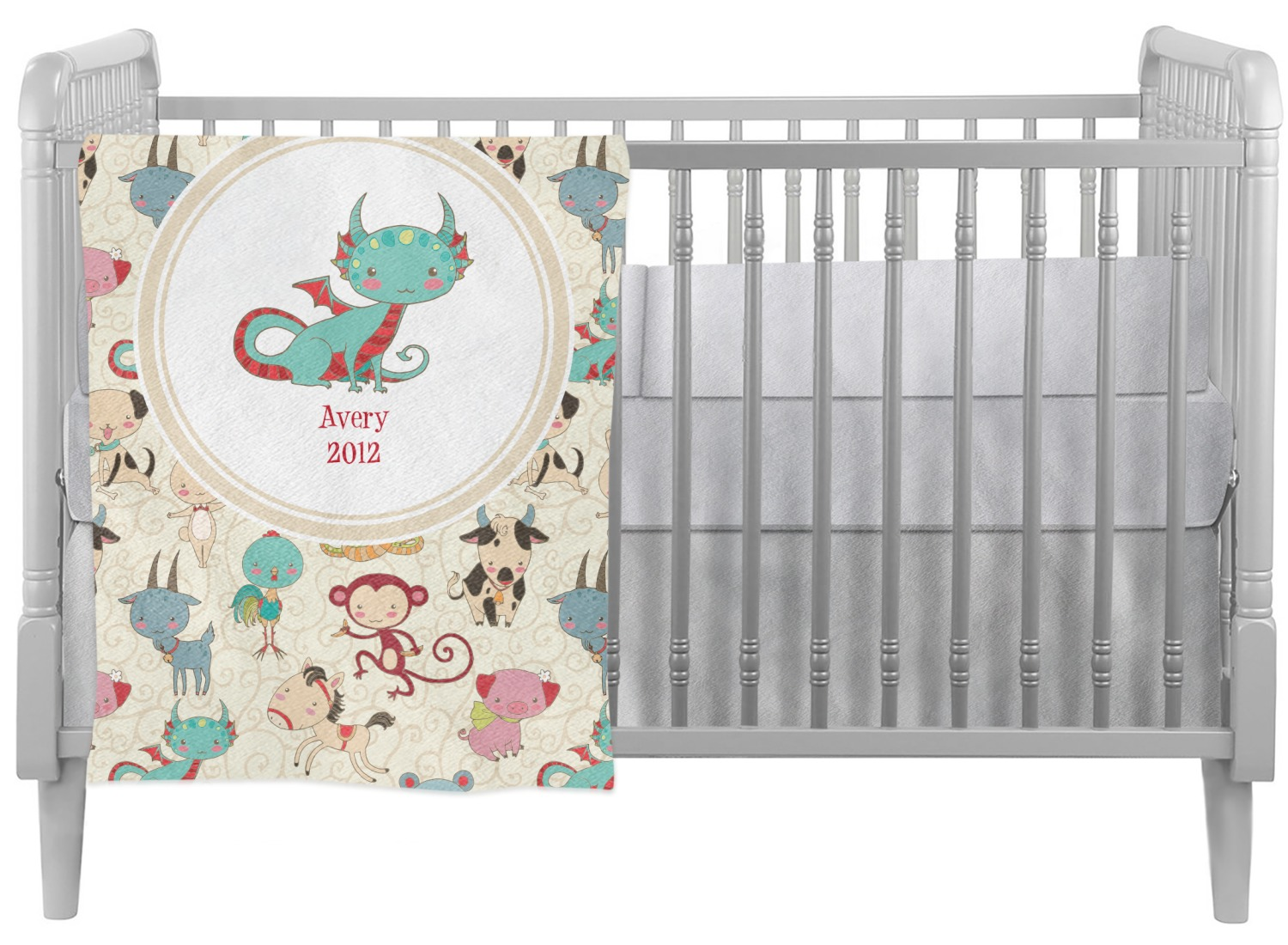 Chinese Zodiac Crib Comforter Quilt Personalized