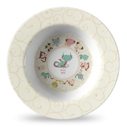 Chinese Zodiac Plastic Bowl - Microwave Safe - Composite Polymer (Personalized)