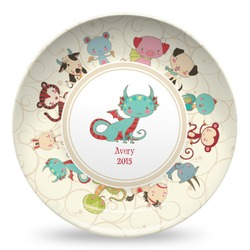 Chinese Zodiac Microwave Safe Plastic Plate - Composite Polymer (Personalized)