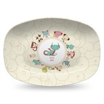 Chinese Zodiac Plastic Platter - Microwave & Oven Safe Composite Polymer (Personalized)