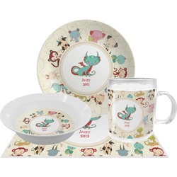 Chinese Zodiac Dinner Set - 4 Pc (Personalized)