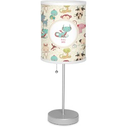 """Chinese Zodiac 7"""" Drum Lamp with Shade Polyester (Personalized)"""