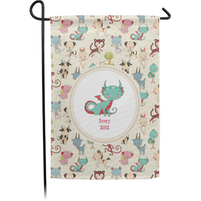 Chinese Zodiac Single Sided Garden Flag With Pole (Personalized)