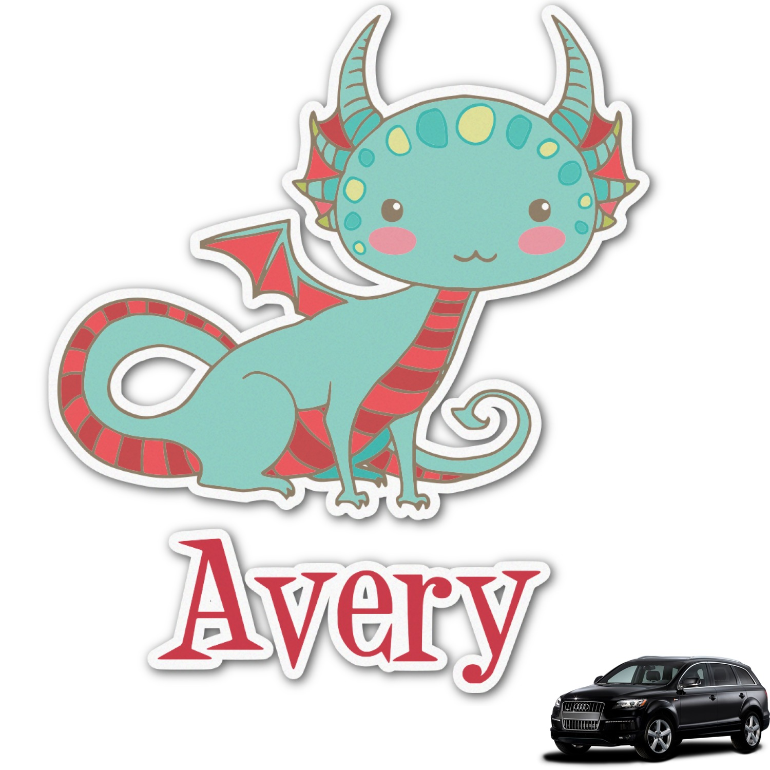 Chinese Zodiac Graphic Car Decal (Personalized) - YouCustomizeIt