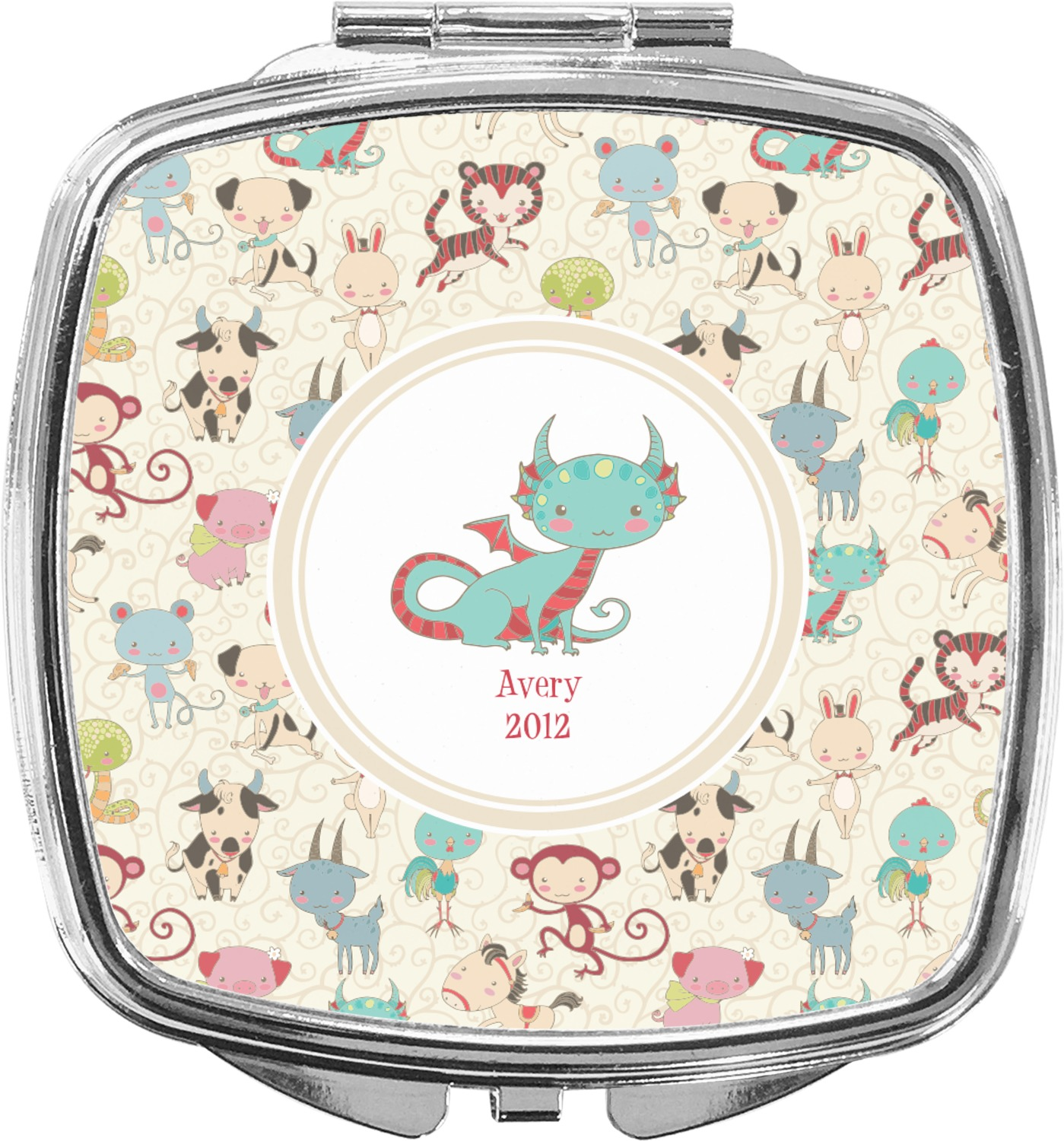 dbd343894835 Chinese Zodiac Compact Makeup Mirror (Personalized)