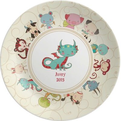 Chinese Zodiac Melamine Plate (Personalized)