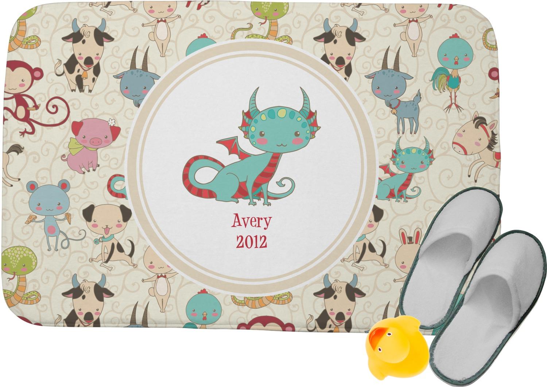Chinese Zodiac Memory Foam Bath Mat (Personalized) - YouCustomizeIt
