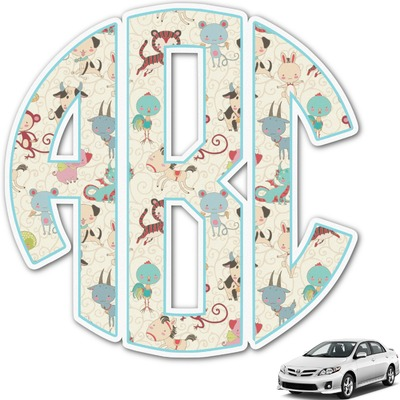 Chinese Zodiac Monogram Car Decal (Personalized)