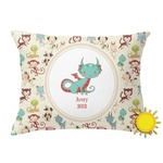 Chinese Zodiac Outdoor Throw Pillow (Rectangular) (Personalized)