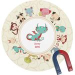 Chinese Zodiac Round Magnet (Personalized)