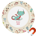 Chinese Zodiac Round Car Magnet (Personalized)