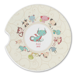 Chinese Zodiac Sandstone Car Coasters (Personalized)