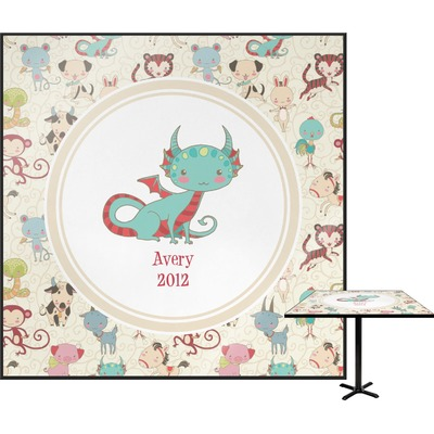 Chinese Zodiac Square Table Top (Personalized)