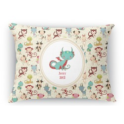 Chinese Zodiac Rectangular Throw Pillow (Personalized)