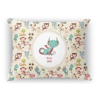 Chinese Zodiac Rectangular Throw Pillow - 12