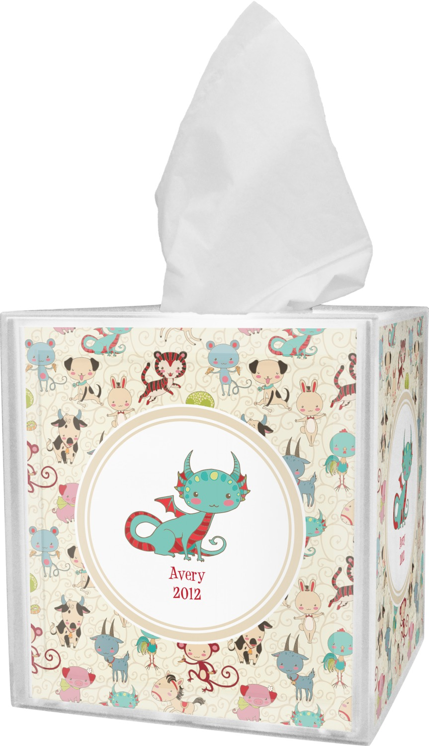 Chinese Zodiac Tissue Box Cover (Personalized) - YouCustomizeIt