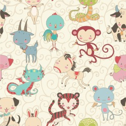 Chinese Zodiac Wallpaper & Surface Covering
