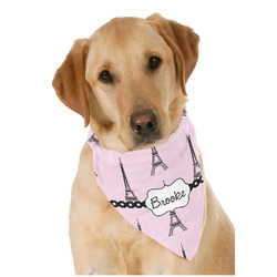 Eiffel Tower Dog Bandana Scarf w/ Name or Text