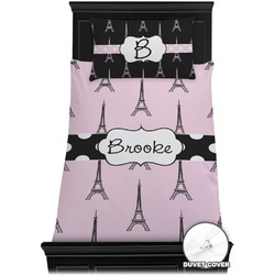 Eiffel Tower Duvet Cover Set - Twin (Personalized)