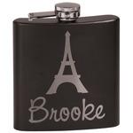 Eiffel Tower Black Flask Set (Personalized)