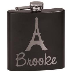 Eiffel Tower Black Flask (Personalized)