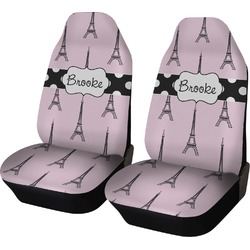 Eiffel Tower Car Seat Covers (Set of Two) (Personalized)