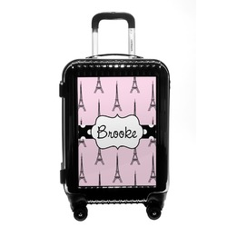 Eiffel Tower Carry On Hard Shell Suitcase (Personalized)