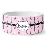 Eiffel Tower Ceramic Dog Bowl (Personalized)