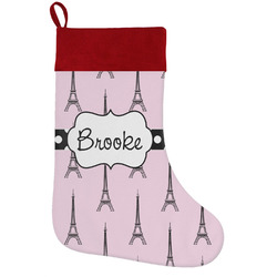 Eiffel Tower Holiday / Christmas Stocking (Personalized)