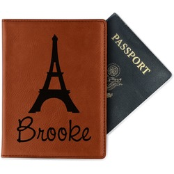 Eiffel Tower Leatherette Passport Holder (Personalized)