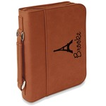 Eiffel Tower Leatherette Book / Bible Cover with Handle & Zipper (Personalized)