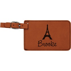 Eiffel Tower Leatherette Luggage Tag (Personalized)
