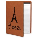 Eiffel Tower Leatherette Portfolio with Notepad (Personalized)