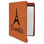 Eiffel Tower Leatherette Zipper Portfolio with Notepad (Personalized)