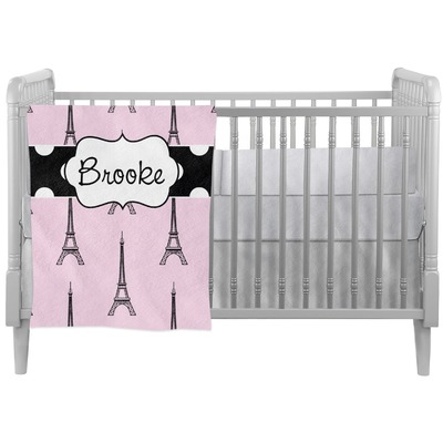 Eiffel Tower Crib Comforter / Quilt (Personalized)