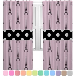 Eiffel Tower Curtains (2 Panels Per Set) (Personalized)